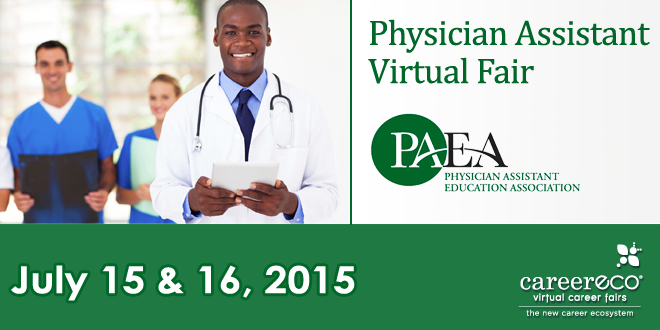 Physician Assistant Virtual Fair (Hosted by PAEA) - July 15 & 16, 2015 Banner