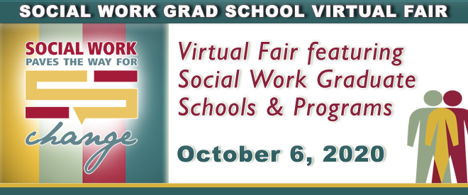 Social Work Grad School Virtual Fair Banner