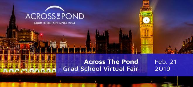 Across The Pond Grad School Virtual Fair Banner