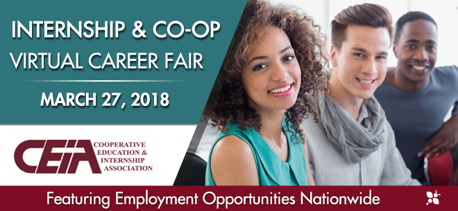 Internship & Co-op Virtual Career Fair Banner