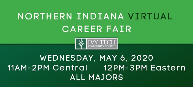 Ivy Tech Northern Region Virtual Career Fair Banner