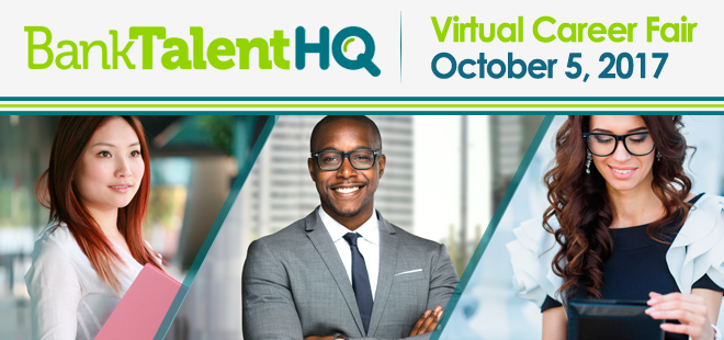 BankTalentHQ Virtual Career Fair Banner