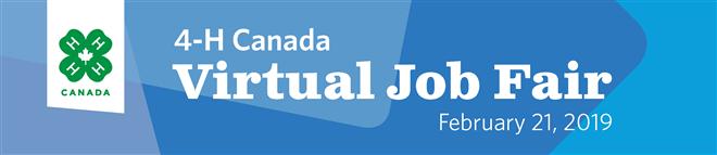 4-H Canada Virtual Job Fair Banner