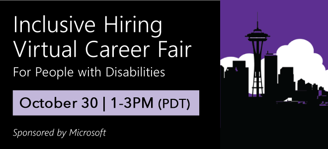 Inclusive Hiring Virtual Career Fair for People with Disabilities Banner