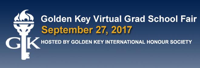Golden Key Virtual Grad School Fair Banner