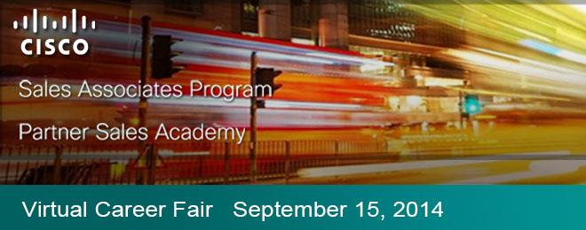 Cisco Sales Assoc. Prog. & Partner Sales Academy Virtual Event Banner