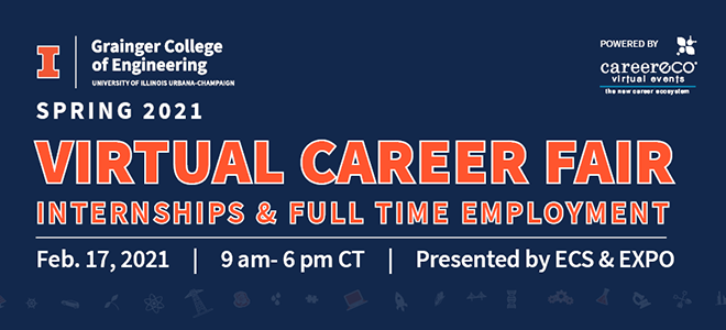 Grainger College of Engineering Virtual Career Fair Banner