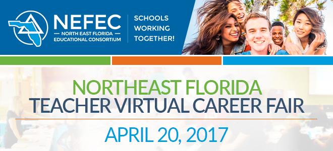 Northeast Florida Teacher Virtual Career Fair Banner