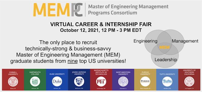 MEMPC Virtual Career & Internship Fair Banner