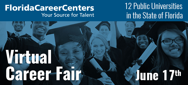 Florida Career Centers Statewide Virtual Career Fair Banner