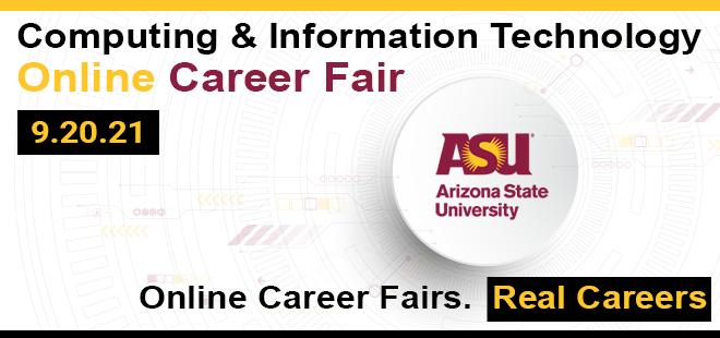 ASU-Fulton Computing & Information Technology Online Career Fair Banner