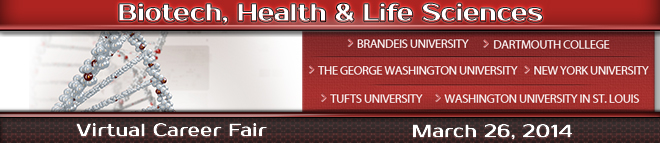 Biotech, Health & Life Sciences Virtual Career Fair Banner