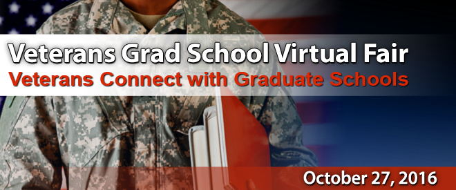 Grad School Virtual Fair for Veterans - Yellow Ribbon Programs Banner