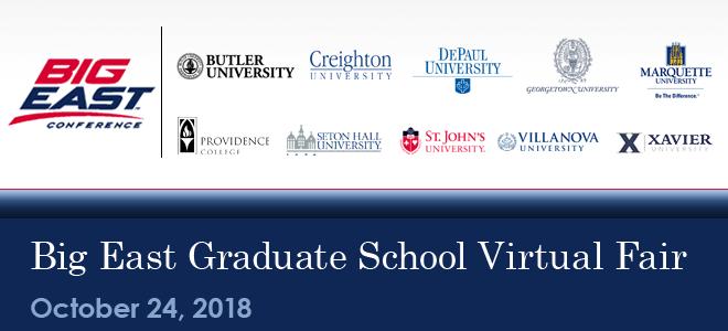 Big East Graduate School Virtual Fair Banner
