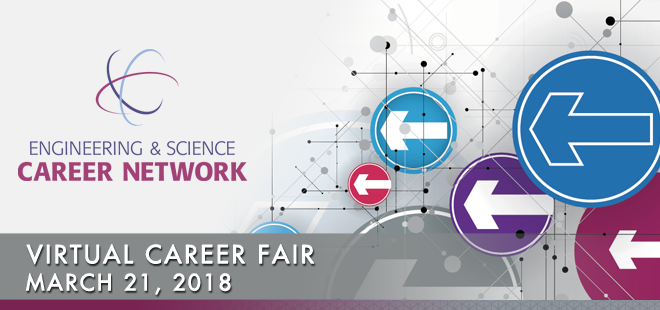 Engineering & Science Career Network Online Career Fair Banner
