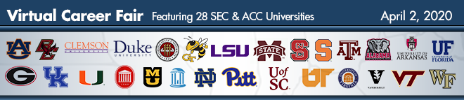 SEC & ACC Virtual Career Fair Banner