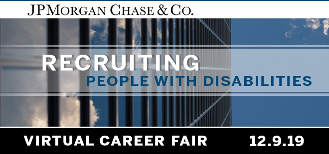 JPMorgan Chase Virtual Career Fair Banner