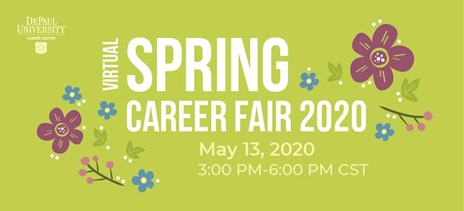 DePaul University Virtual Career Fair  Banner