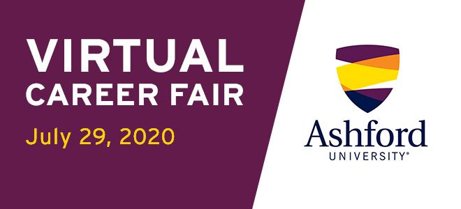 Ashford University Virtual Career Fair Banner