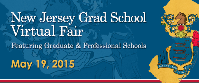 New Jersey Graduate School Virtual Fair - May 19, 2015 Banner