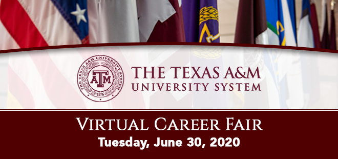 Texas A&M University System Virtual Career Fair Banner