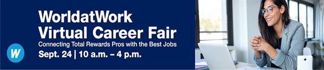 WorldatWork Virtual Career Fair Banner