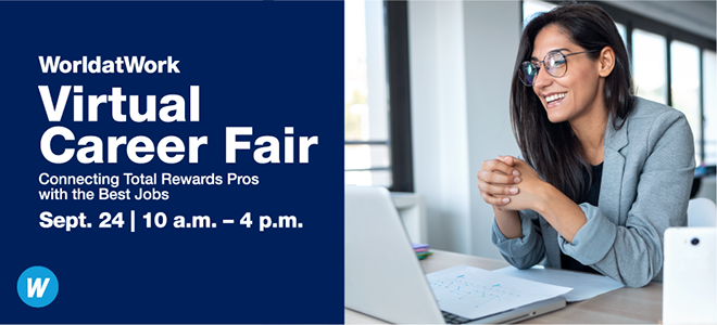 WorldatWork Virtual Career Fair Banner