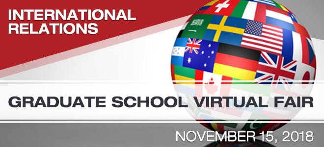 International Relations Graduate School Virtual Fair Banner