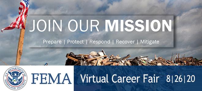 FEMA Full Time Virtual Career Fair Banner