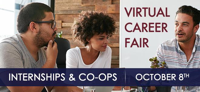 Internships & Co-ops Virtual Career Fair Banner