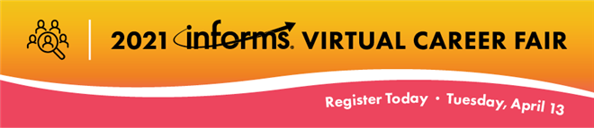 2021 INFORMS Virtual Career Fair Banner