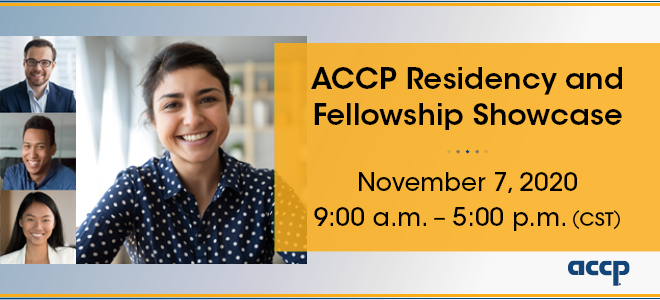 ACCP Residency and Fellowship Showcase Banner