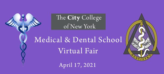 CCNY 9th Annual Medical & Dental School Fair Banner