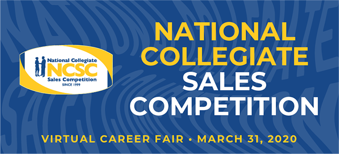 National Collegiate Sales Competition Virtual Career Fair Banner