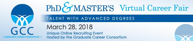 PhD & Master's Virtual Career Fair Banner