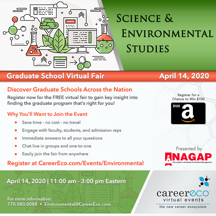 Science & Environmental Studies Graduate School Virtual Fair - April 14, 2020