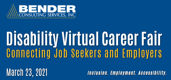 Bender Virtual Career Fair Banner