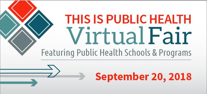 This is Public Health Virtual Fair Banner