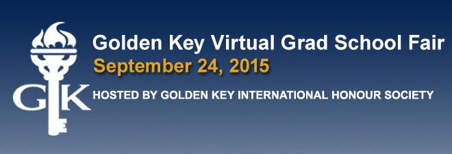 Golden Key Virtual Grad School Fair - September 2015 Banner