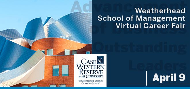 Weatherhead School of Management Virtual Career Fair Banner