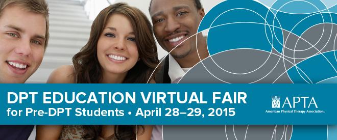 DPT Education Virtual Fair - April 2015 Banner