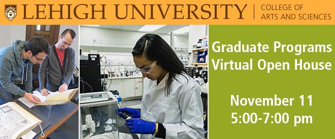 Lehigh University Graduate Programs Virtual Open House Banner