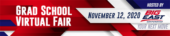 Grad School Virtual Fair - Hosted by Big East Career Consortium Banner