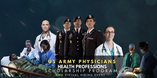 US Army Physician Scholarship and Hiring Event Banner