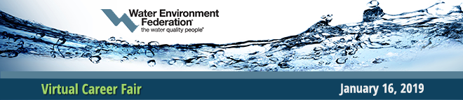 Water Environment Federation Virtual Career Fair Banner