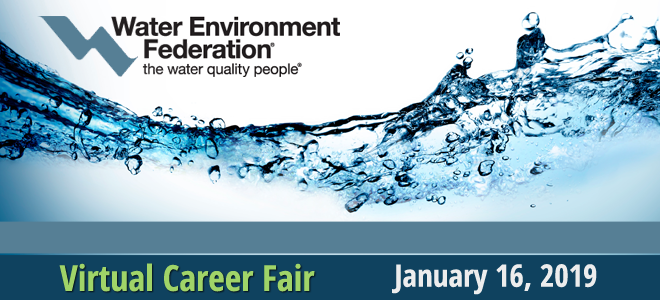 Water Environment Federation Virtual Career Fair Banner