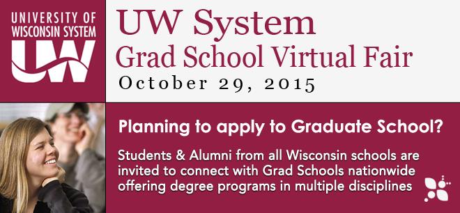 Wisconsin Grad School Virtual Fair Banner