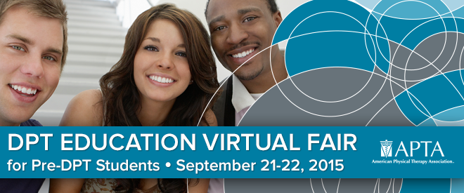 DPT Education Virtual Fair - Hosted by APTA - Sept. 2015 Banner