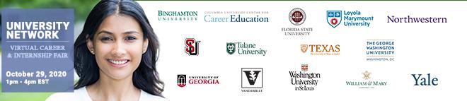 University Network Virtual Career & Internship Fair Banner