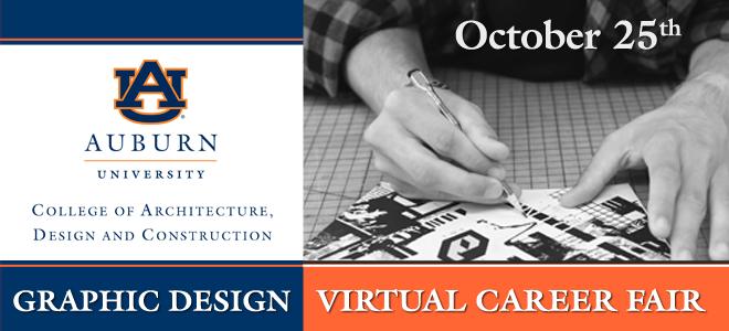 Auburn Graphic Design Virtual Career Fair Banner